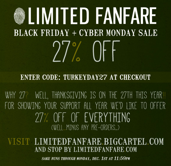 27% Off Black Friday + Cyber Monday Sale