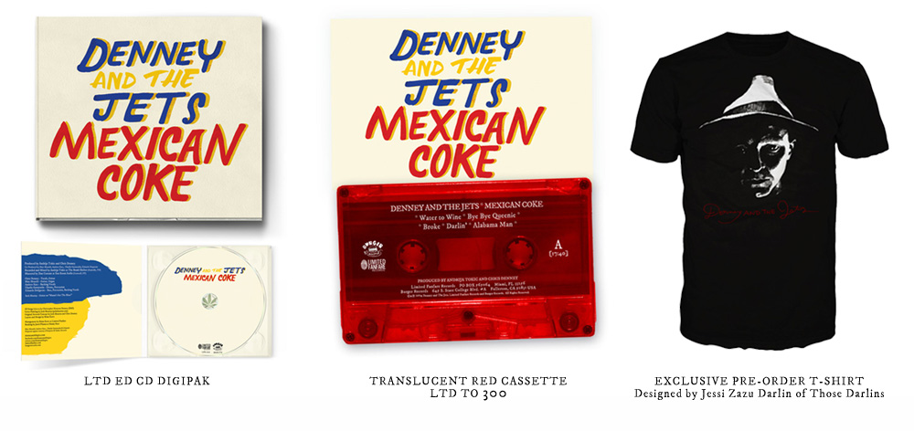 Denney and The Jets - Mexican Coke - CD, Cassette & T-Shirt